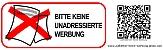 """_Initiative """"Aufkleber Keine Werbung"""" - Pickerl gegen unerwünschte Reklame an der Eingangstür"""